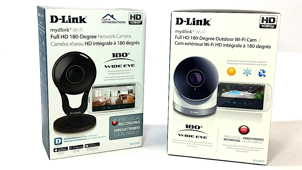 NEW D-Link Full HD 180-Degree WiFi Security Camera  1080P Indoor Night Vision