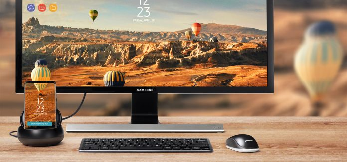 Samsung DeX station in action