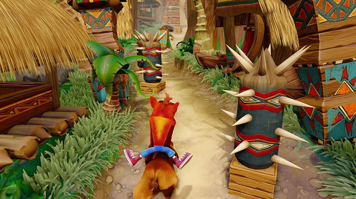 Crash Bandicoot boar riding