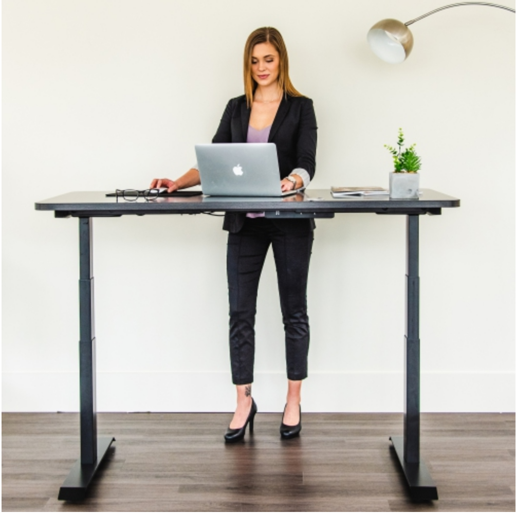 Sit to stand desks small office space