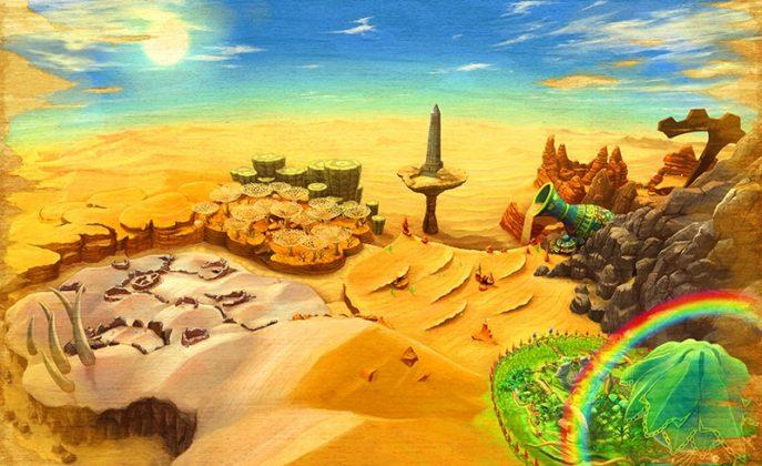 Ever Oasis desert