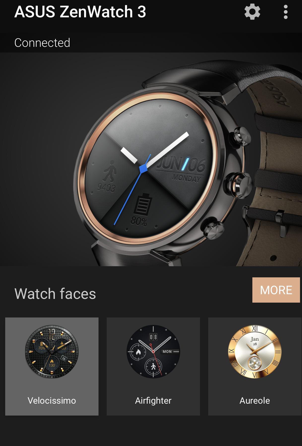 ASUS Zenwatch 3 app