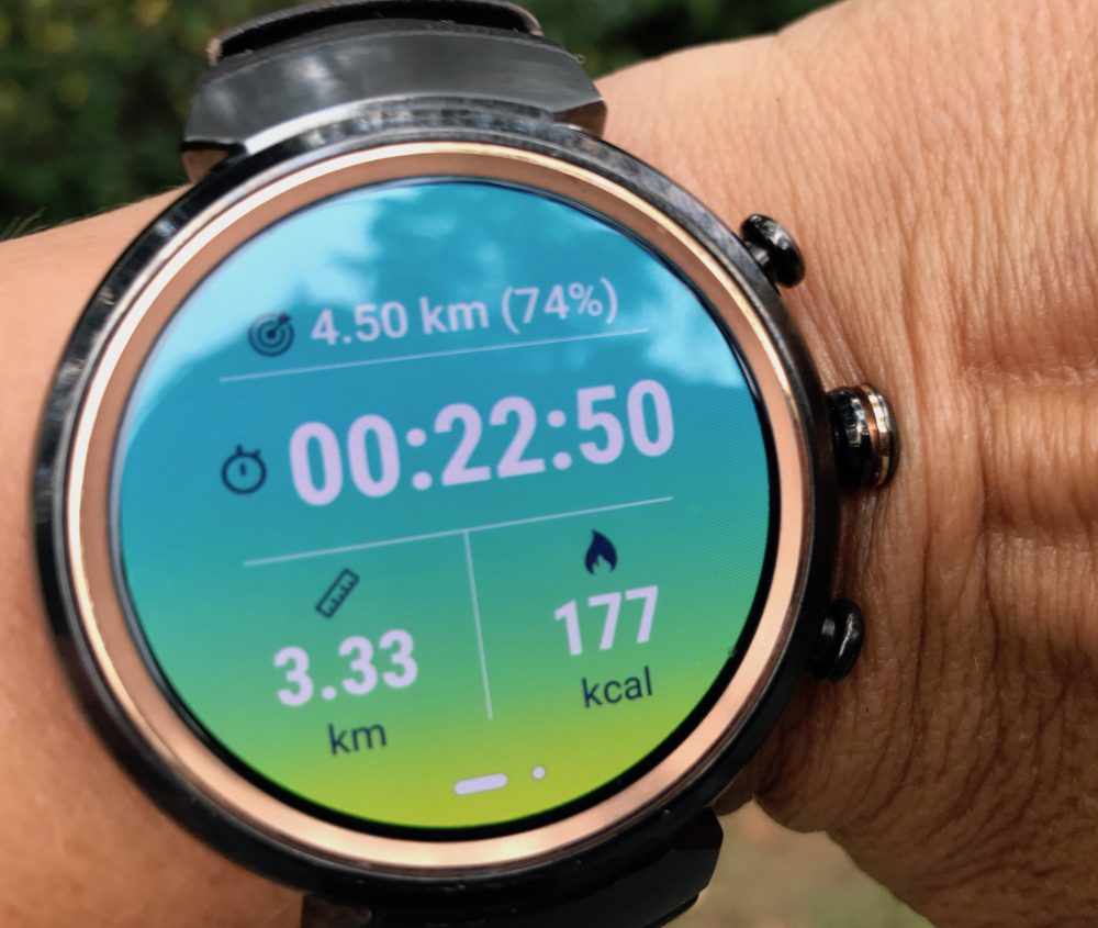 ASUS Zenwatch 3 fitness tracking