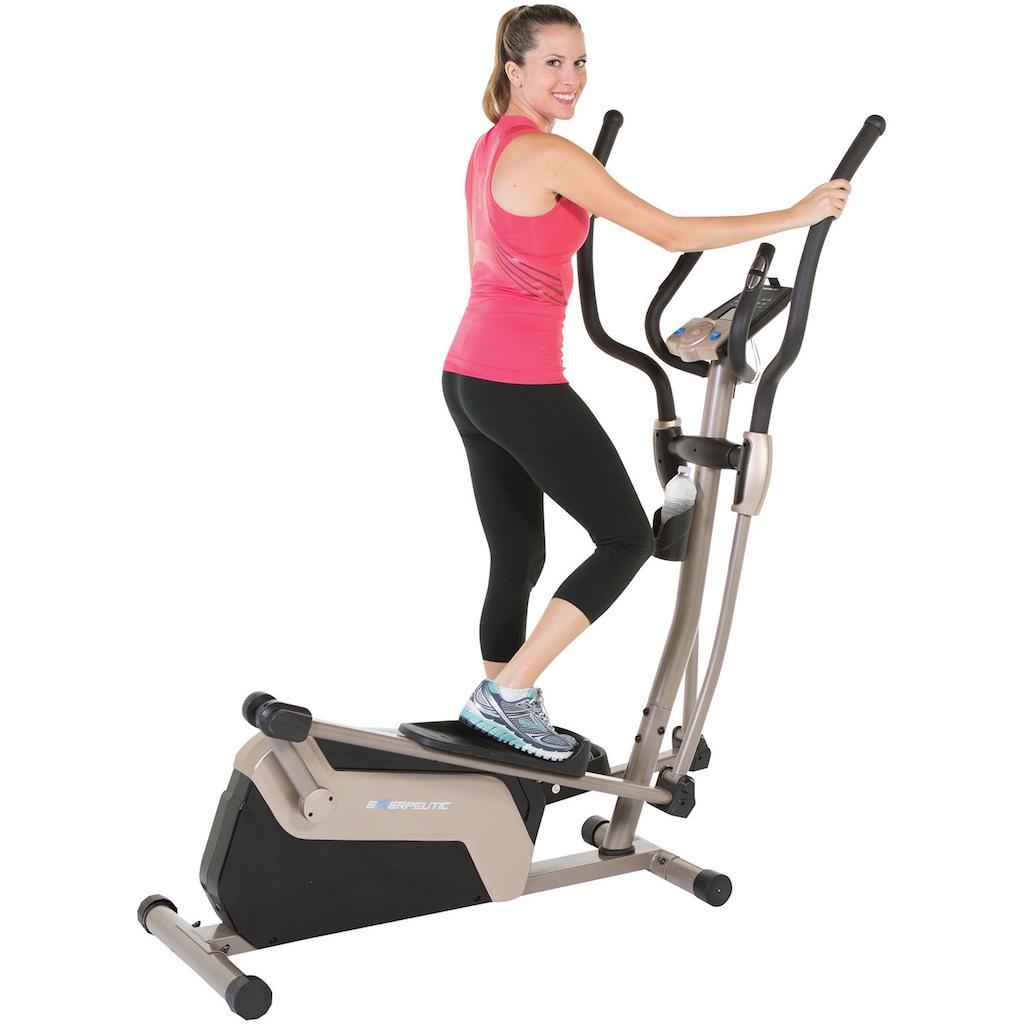 woman on an elliptical machine