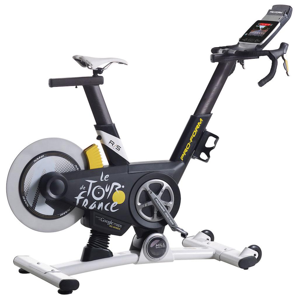 vélo stationnaire avec écran