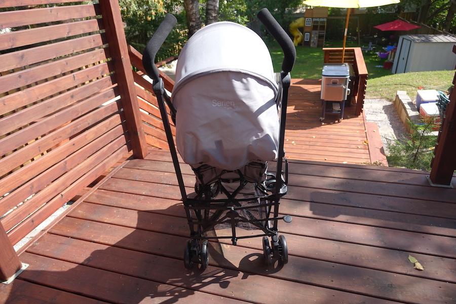 guzzie and guss lightweight stroller back