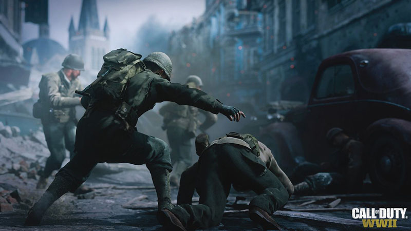 Call of Duty WWII Allies Axis