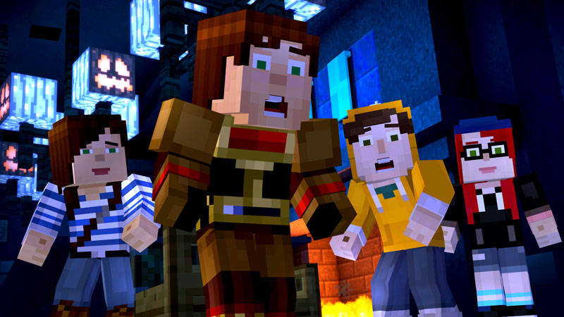 Minecraft Story Mode making decisions