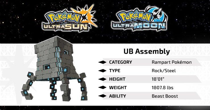 Pokemon Ultra Sun Moon UB Assembly