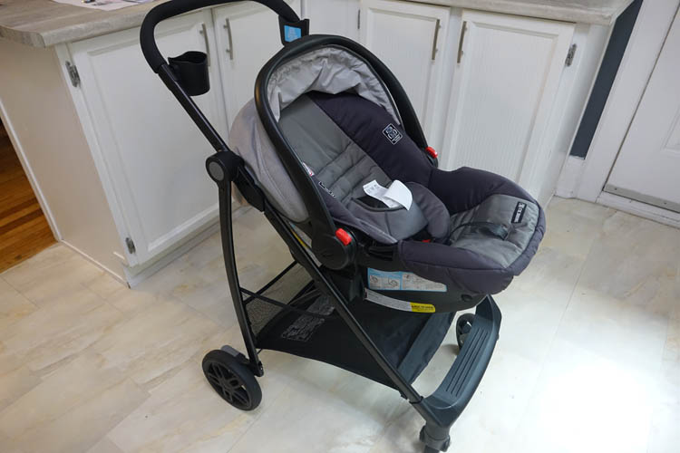 graco travel views car seat on frame