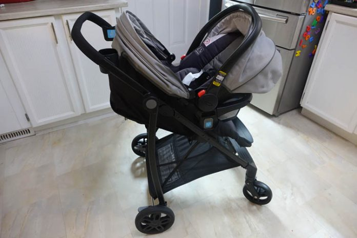 graco travel views car seat on stroller seat