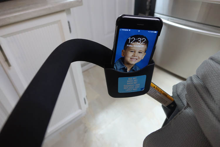 graco views travel system phone holder