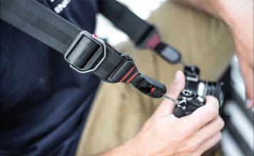 Photographer using Peak Design Slide Camera Strap