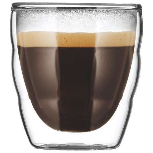 Bodum double wall espresso glasses