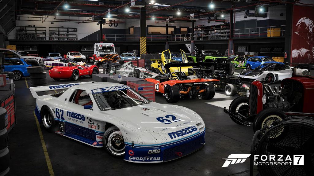 Forza Motorsport 7 car garage