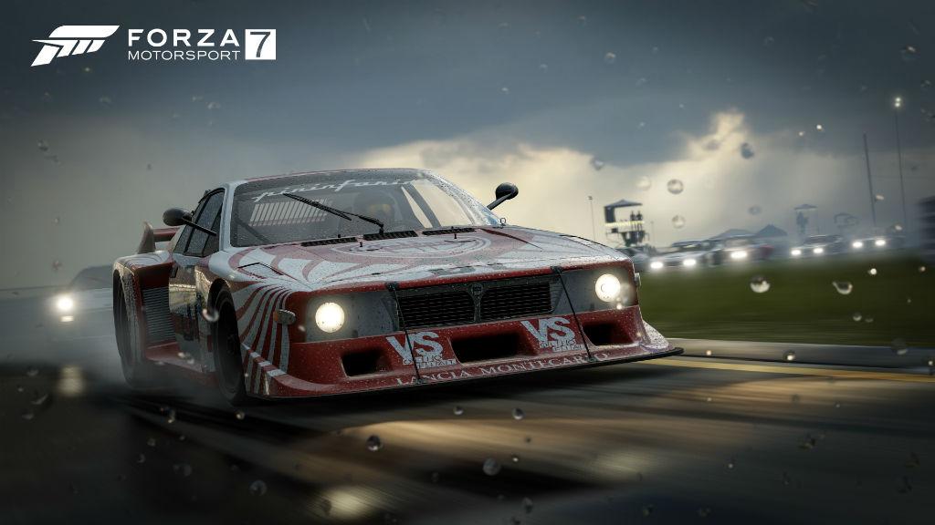 Forza Motorsport 7 racing rain wet