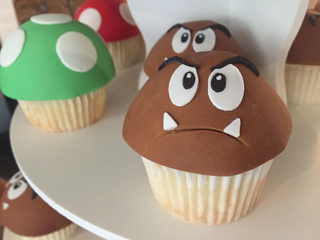 Goomba cupcakes