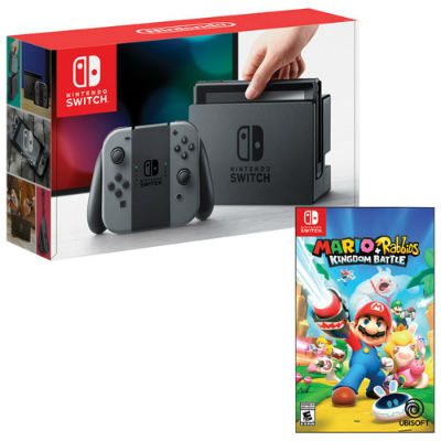 Nintendo Switch Gray JoyCon Rabbids