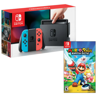 Nintendo Switch Red Blue JoyCon Rabbids