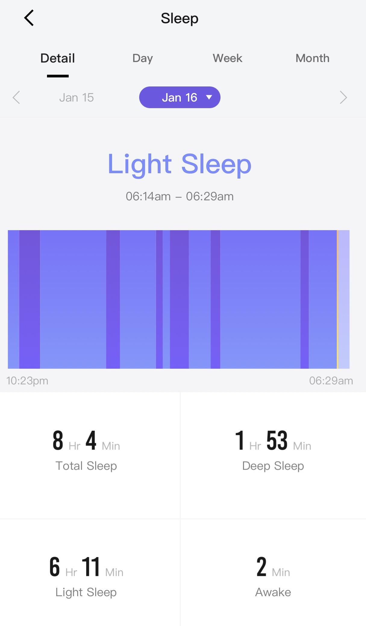 Amazfit sleep tracking