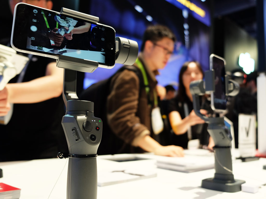 DJI OSMO 2 at CES 2018