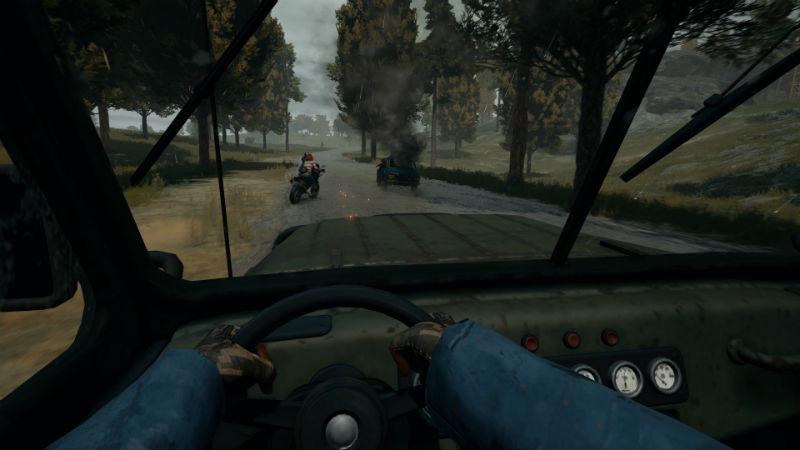 PUBG driving