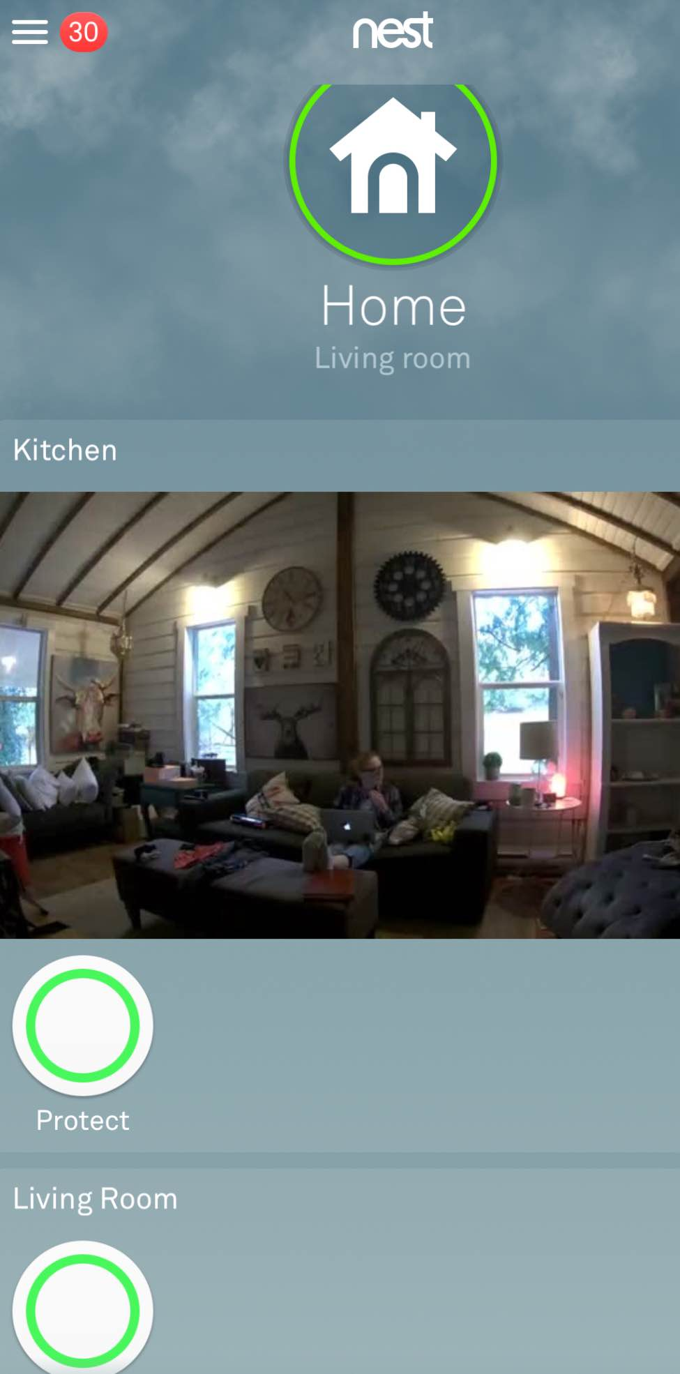 Nest App with Nest Cam