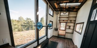 home gym tiny house
