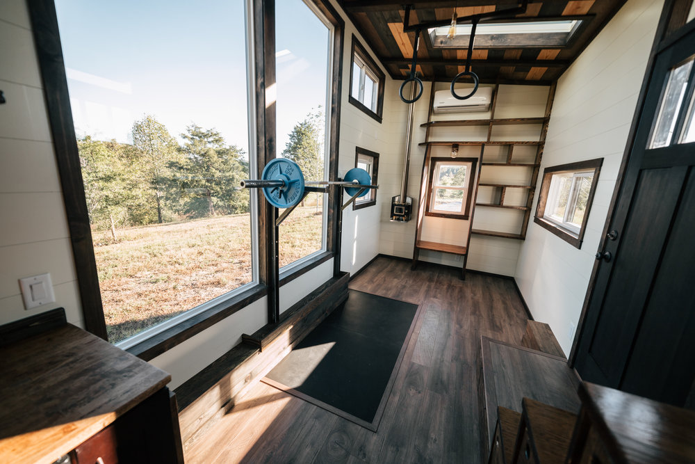 how to have a home gym in a tiny house best buy blog rh blog bestbuy ca Tiny High School Gym tiny house gym