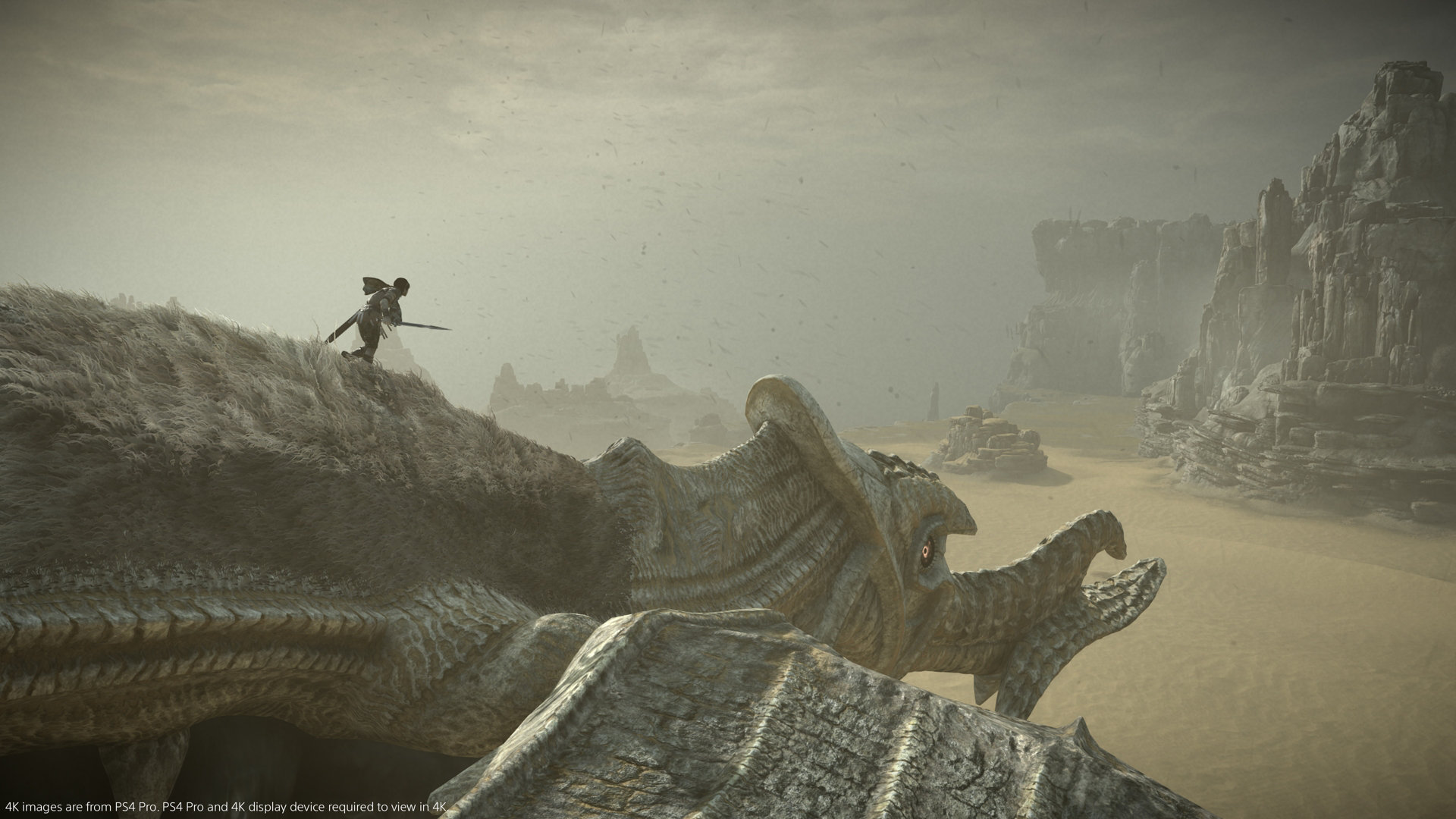 Shadow of the Colossus PS4 climbing