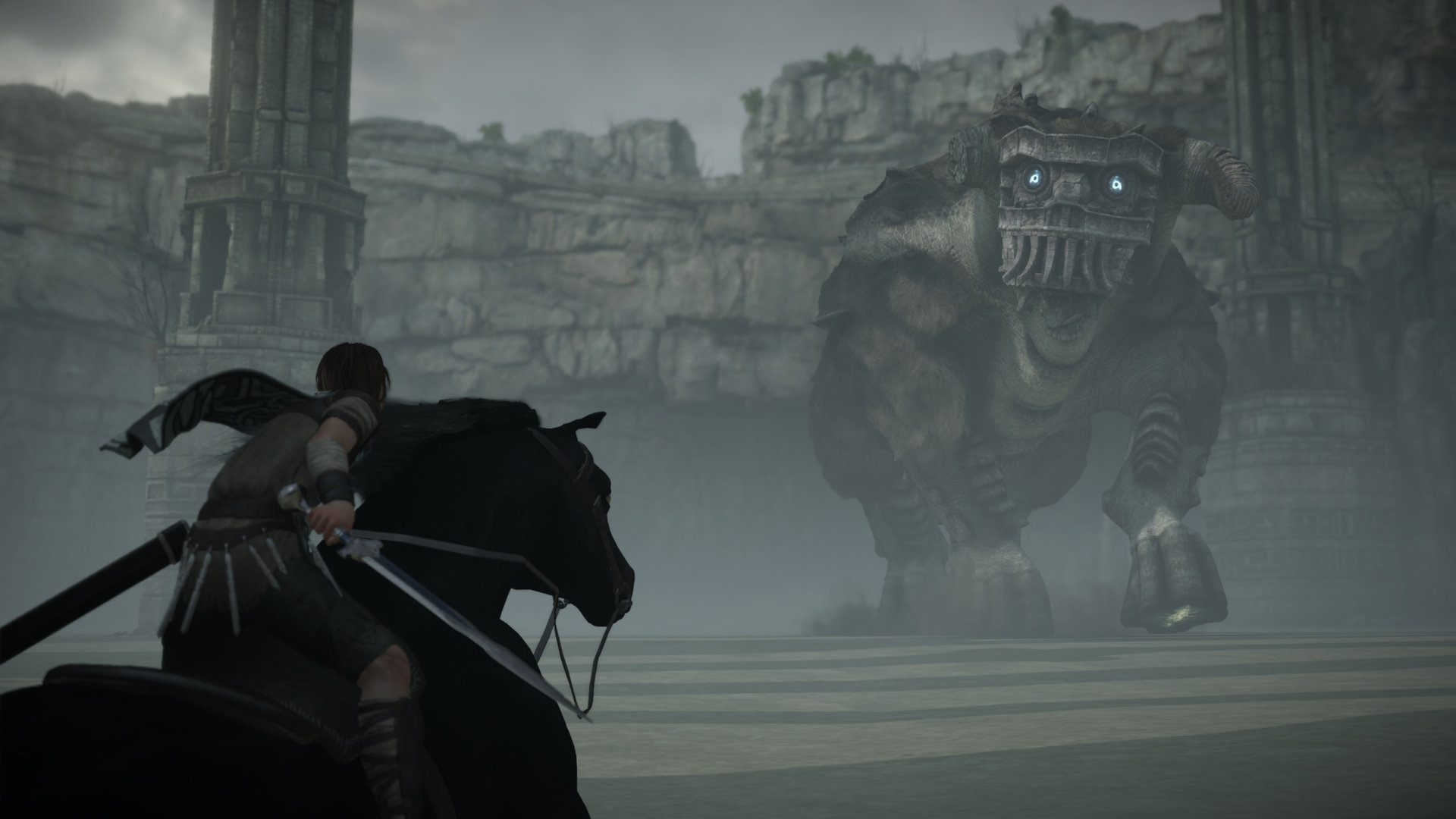 Shadow of the Colossus PS4 colossi