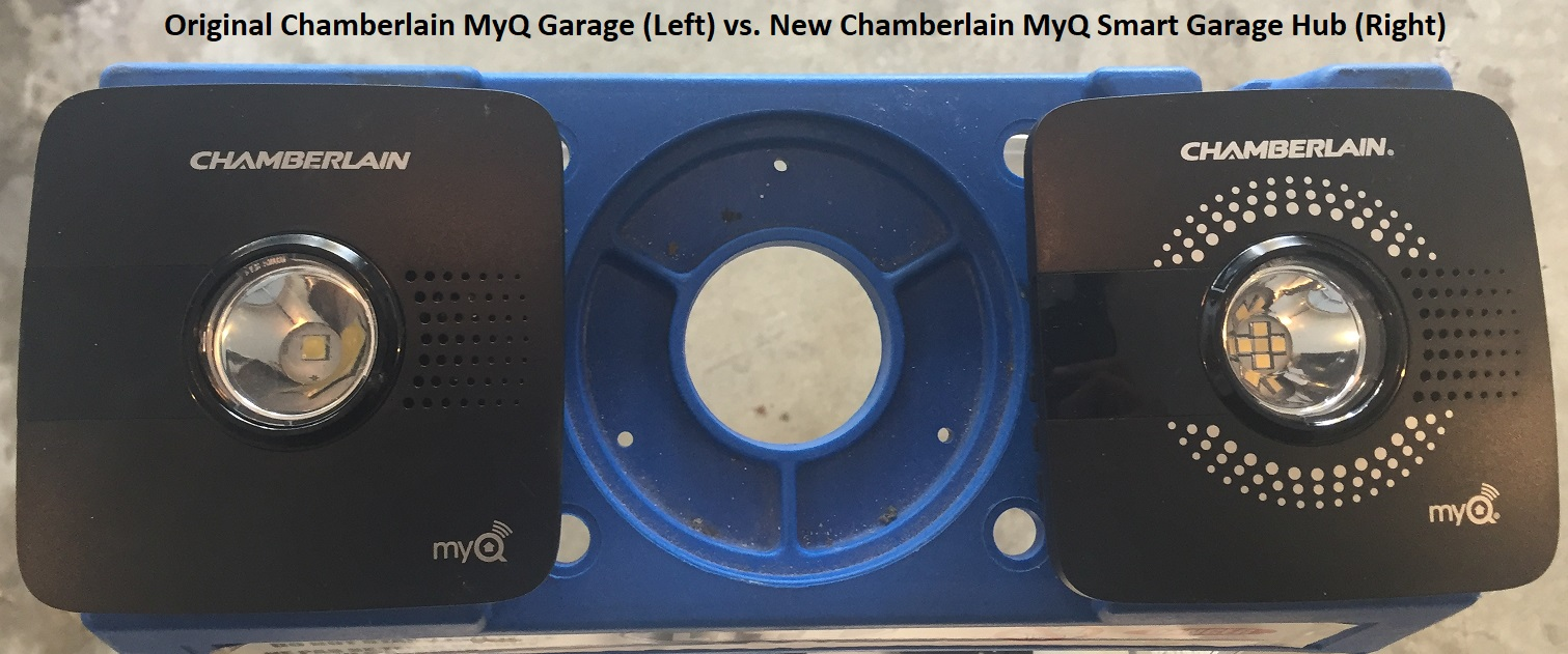 Old Chamberlain MyQ vs New Chamberlain MyQ
