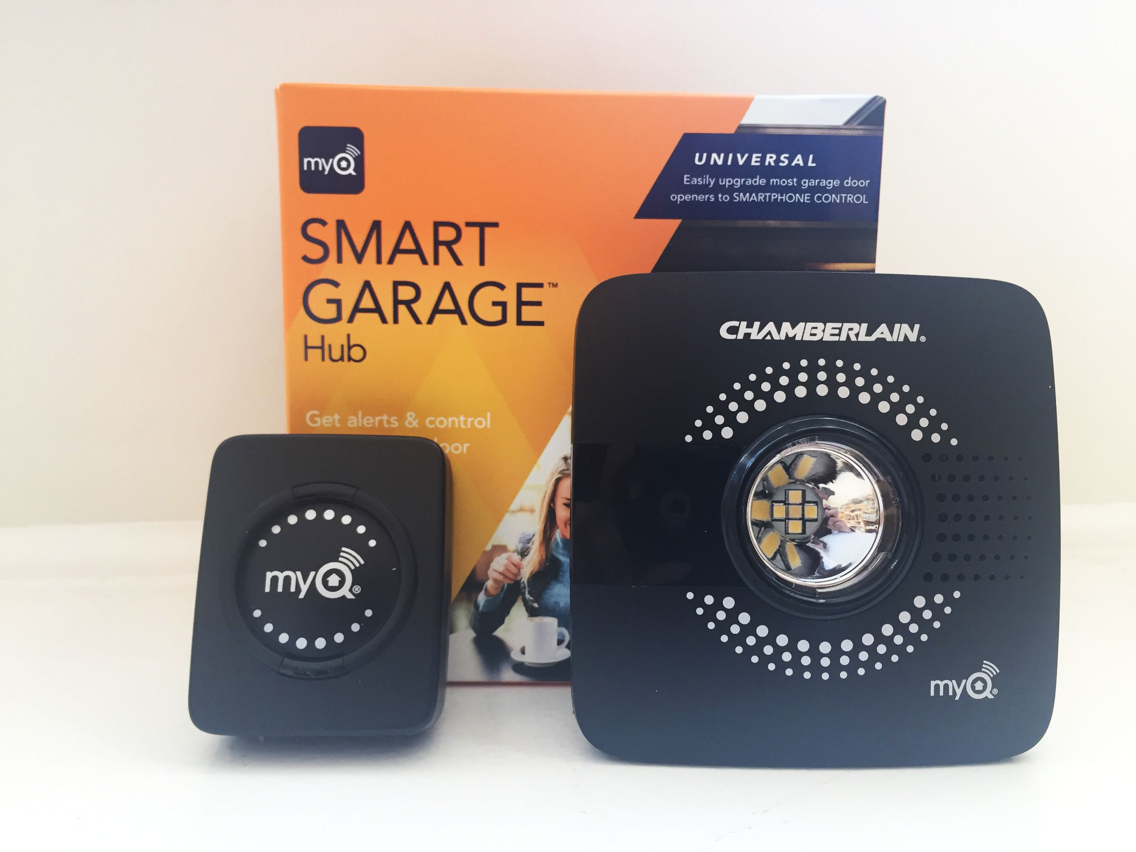 hub smart best garage door black p chamberlain opener myq site rd buy