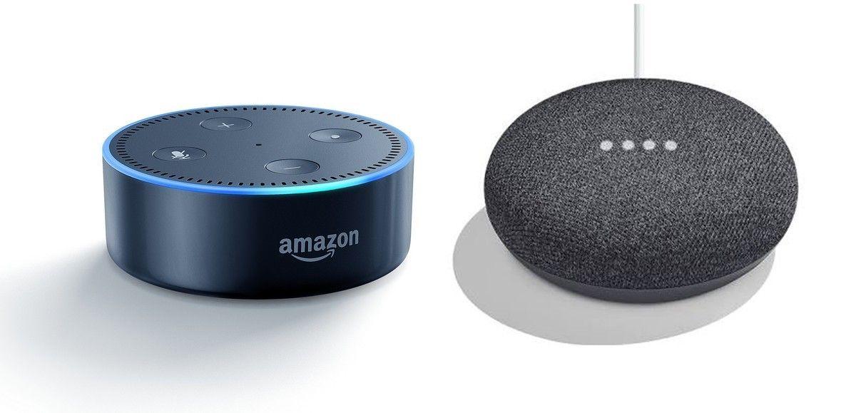 Echo Dot and Google Home Mini