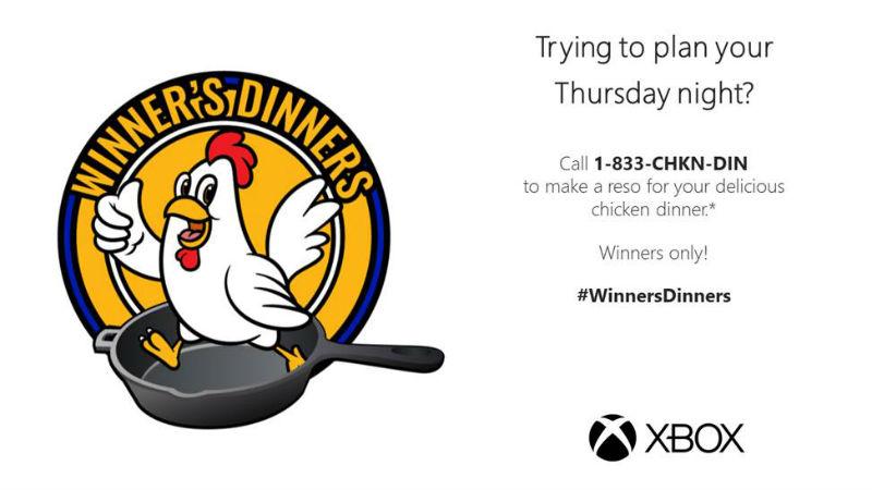 Xbox Winner's Dinner
