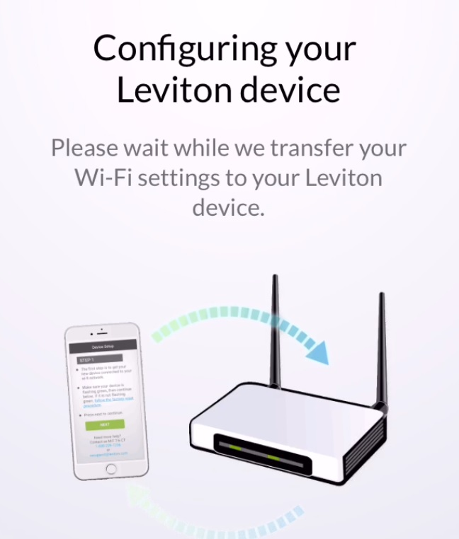 Leviton Wi-Fi Smart Switch Device Sync