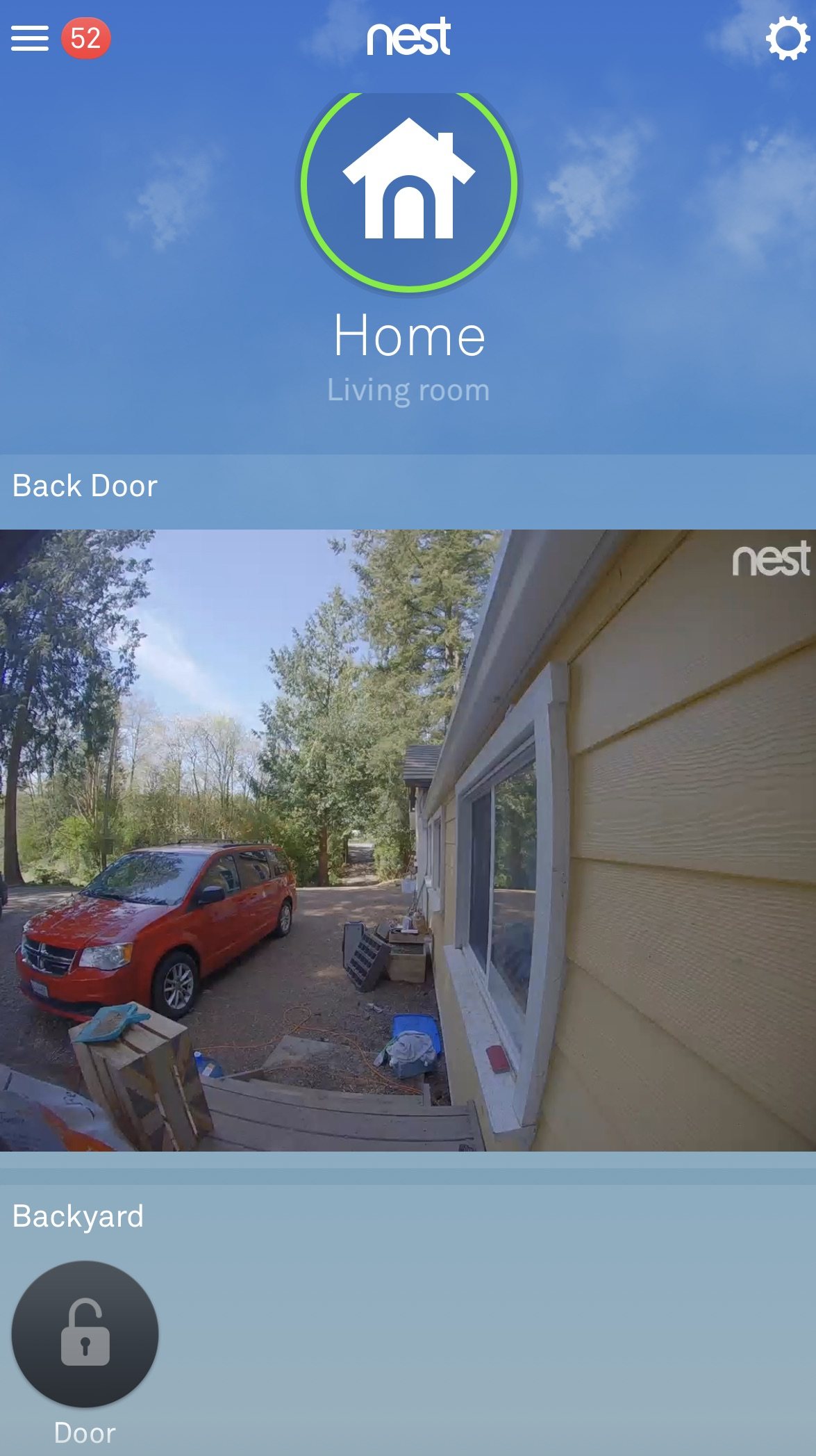 Nest app Nest Hello live view