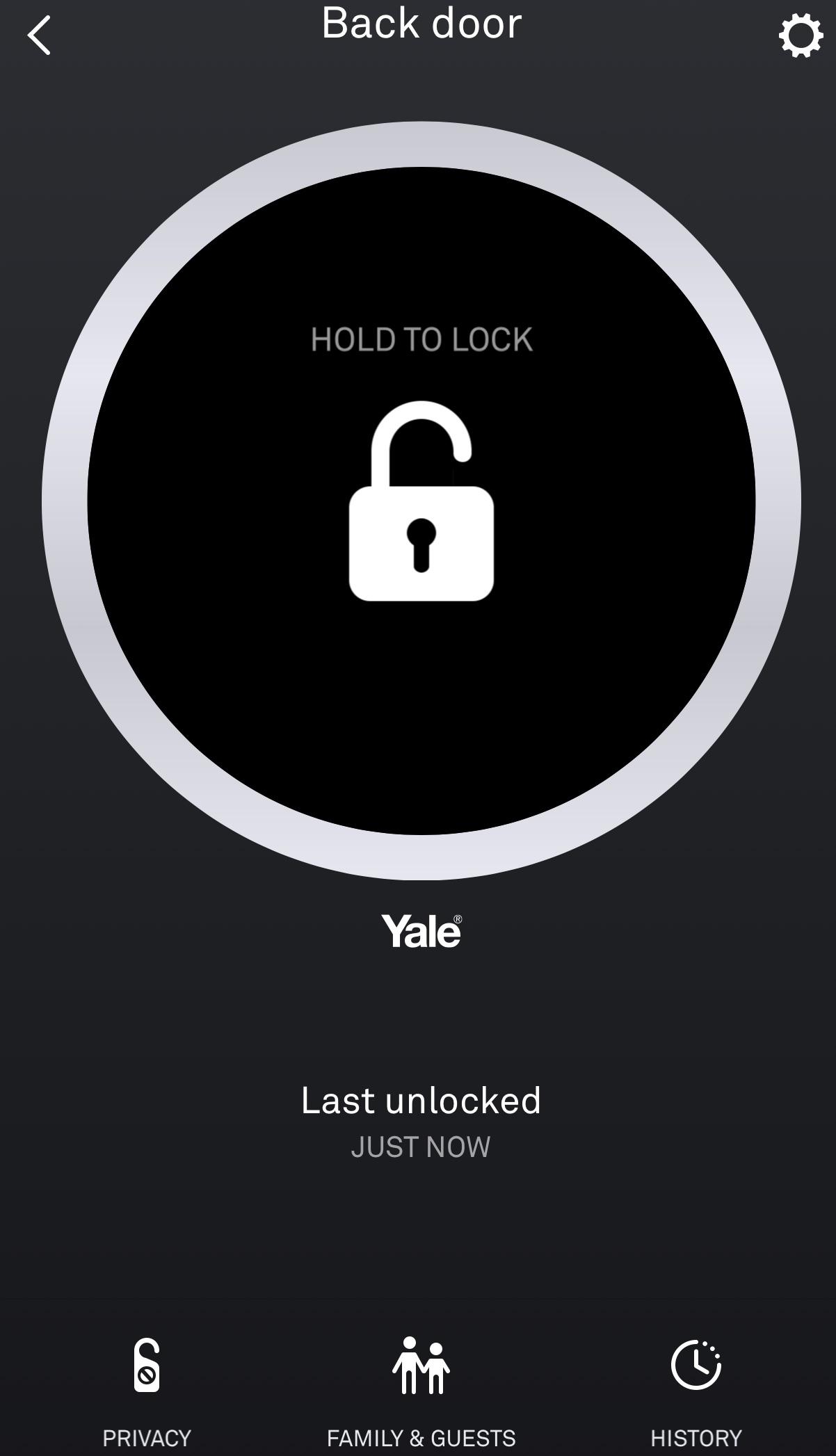 Nest x Yale Door Lock app