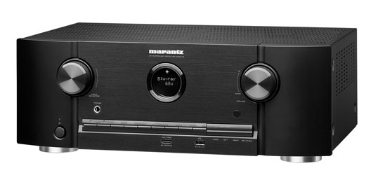 A photo of a Marantz SR5013 7.2 Channel 4K Ultra HD Network AV Receiver