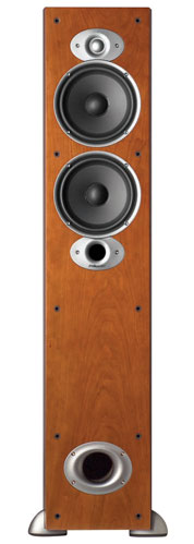 A photo of the Polk Audio RTiA5 250-Watt Tower Speaker in Cherry