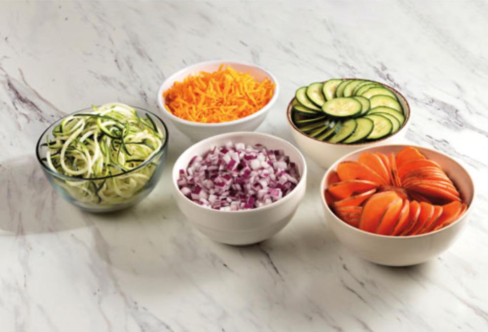 Food processor vegetables