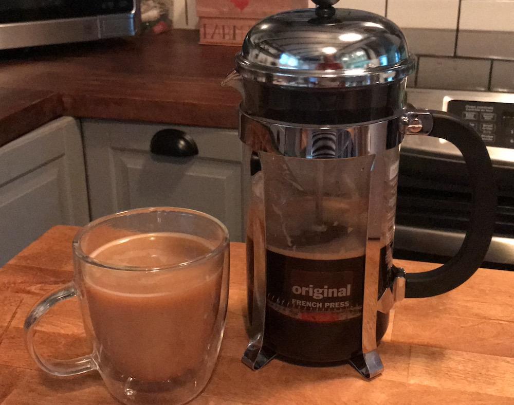 Bodum French Press with coffee