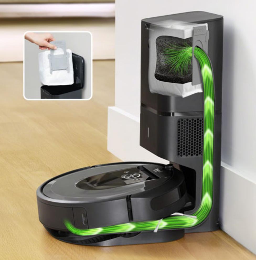 robot vacuum dust bin