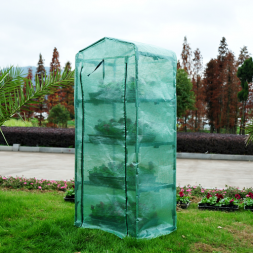 greenhouses and garden shelters - outsunny greenhouse 4 tiers