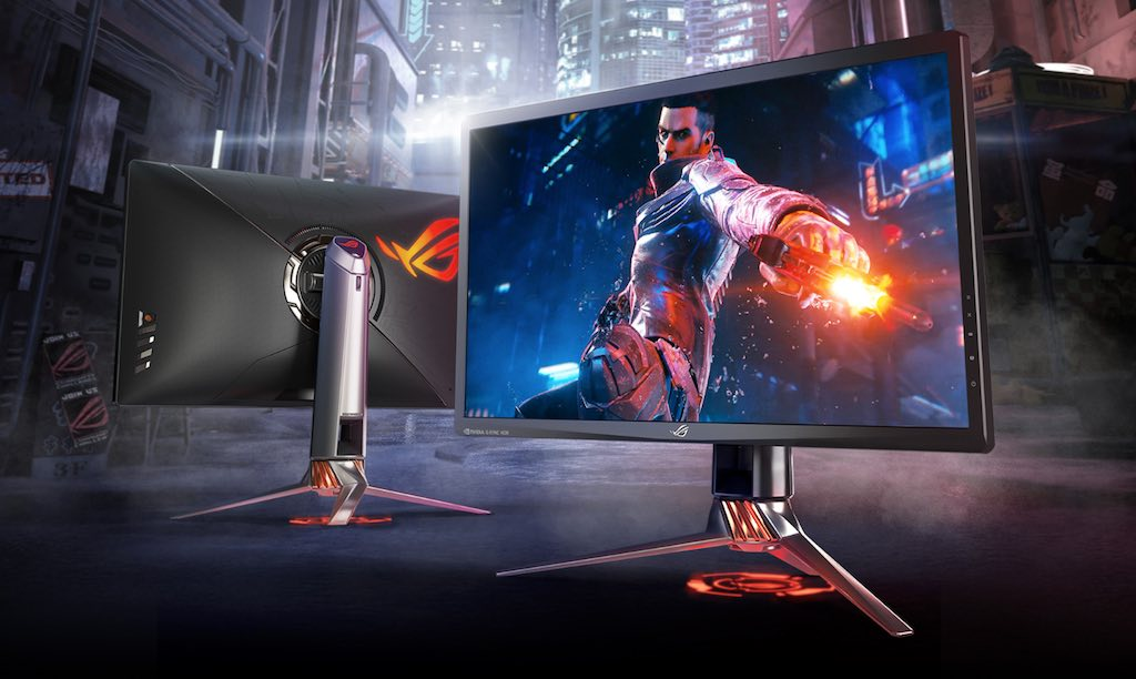 5be80ea7711 A high performance gaming PC deserves a monitor that takes things to an  entirely new level. That's the premise behind the new ASUS ROG Swift PG27UQ  4K UHD ...