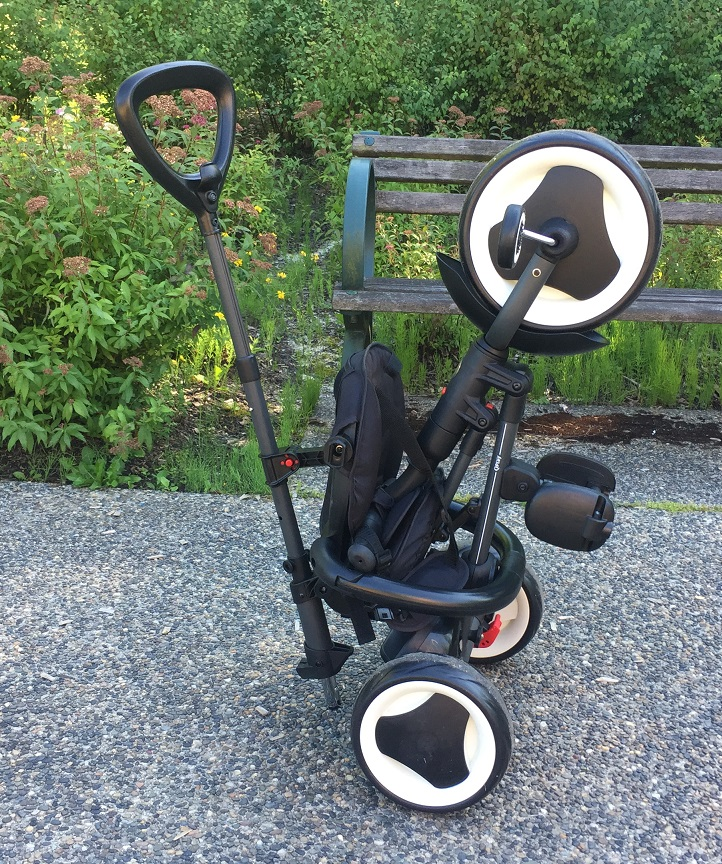 Rito Folding Trike Folded and Standing