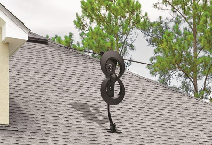 Photo of a ClearStream rooftop-mounted antenna