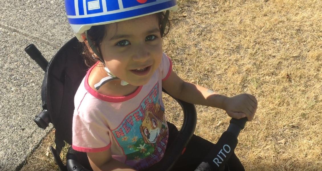 Child riding the Rito Trike