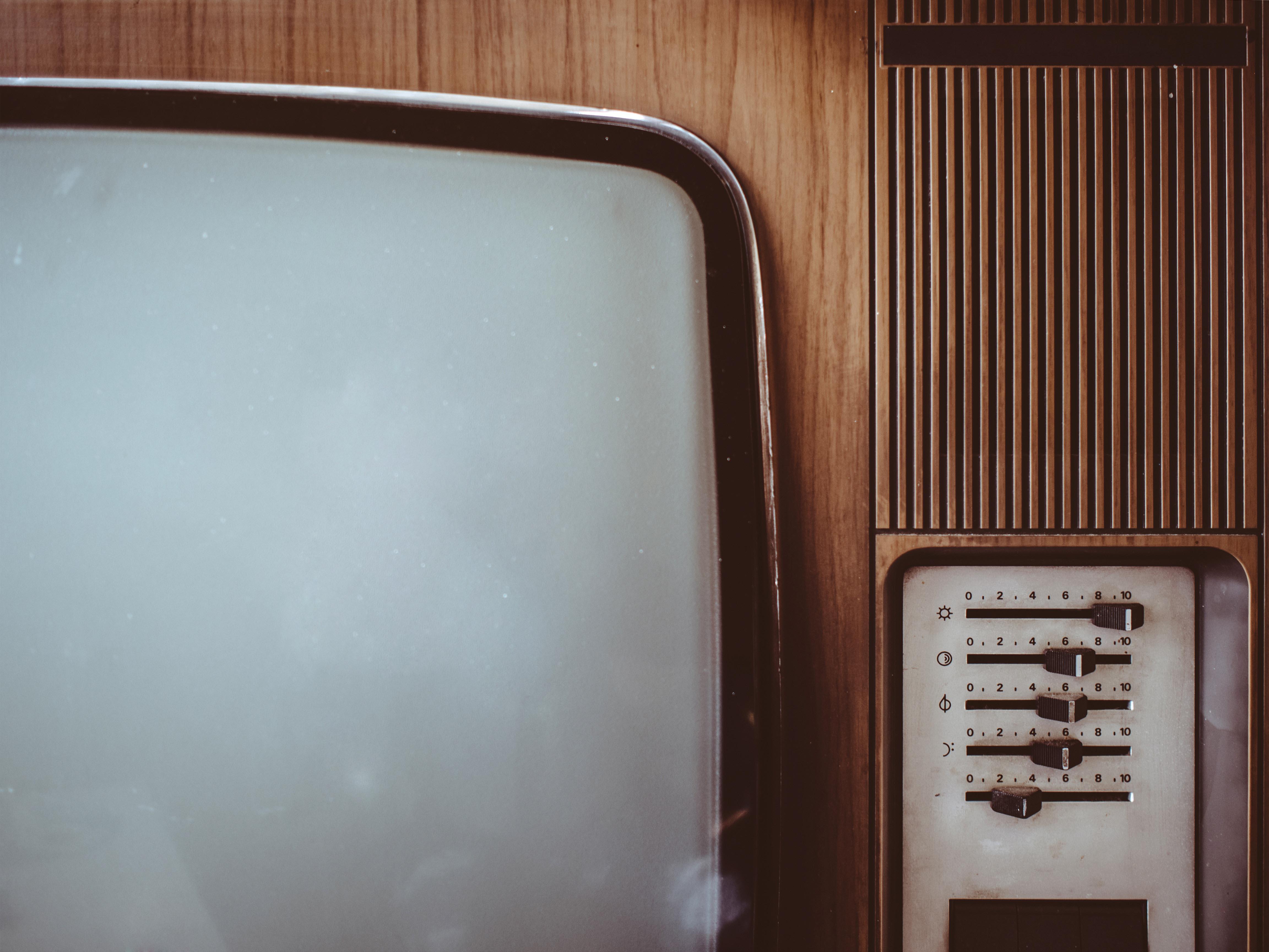 An old CRT TV