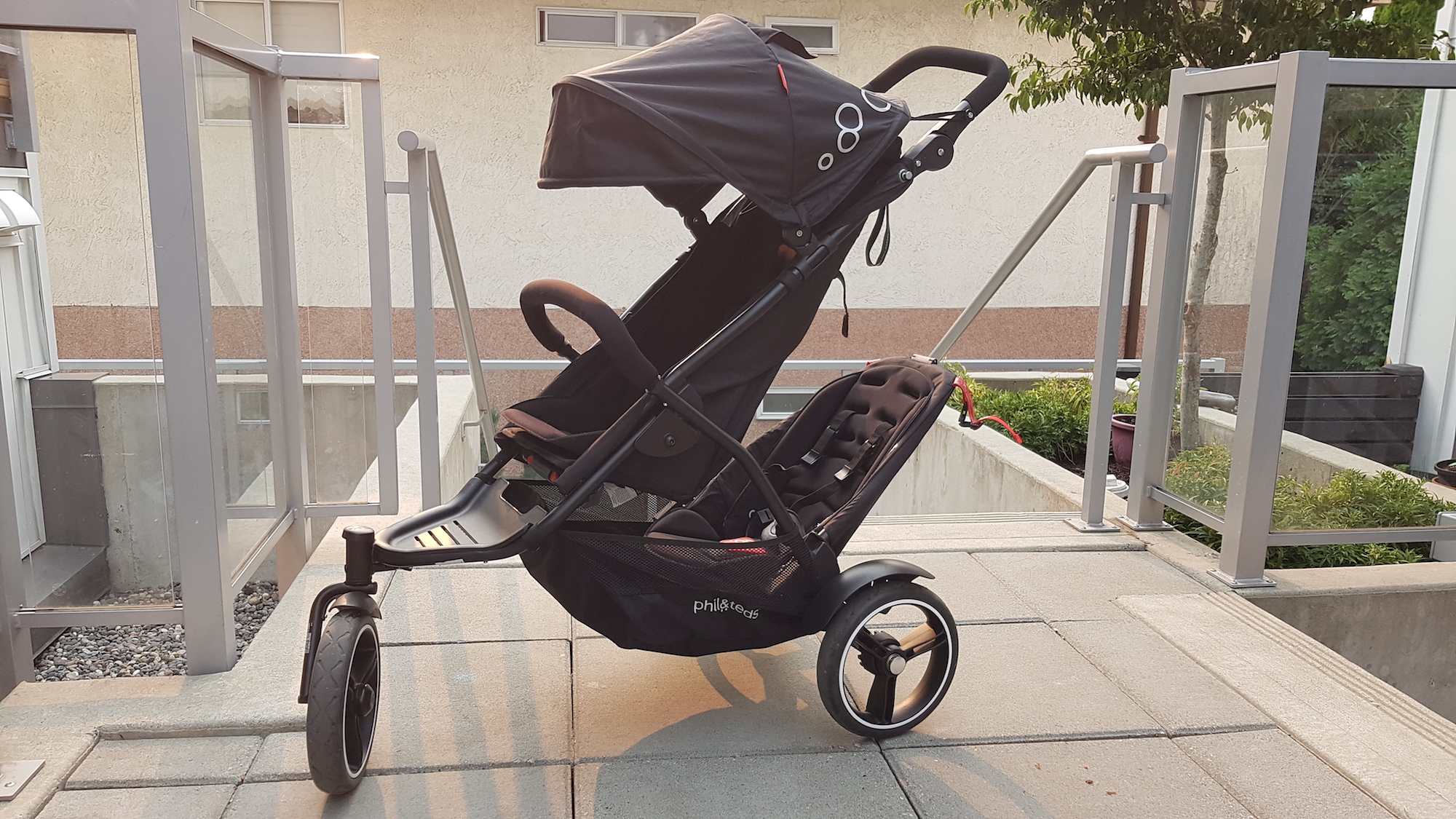phil&teds Dot V3 Double Stroller  fully expanded